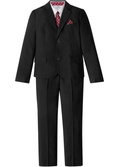 Dress + skjorte + slips (4 delt sett), gutt sorthvit bpc