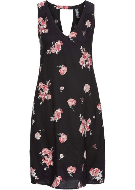 991376b7 Kjole med utringning på ryggen sort/rosa blomstret - Dame - RAINBOW ...