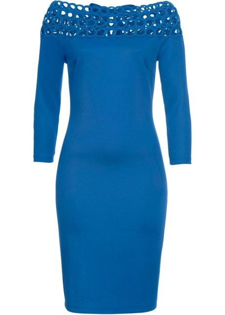 a404eb09d0a5 Kjole med Carmen-utringning blå - Dame - BODYFLIRT boutique - bonprix.no