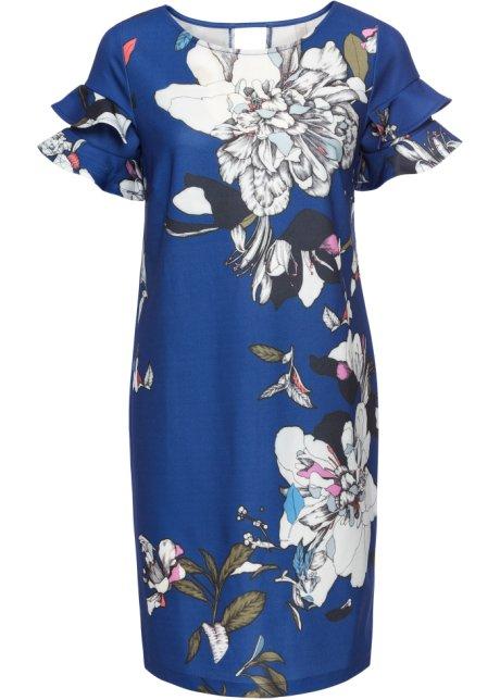 b12170fb2987 Kjole med blomsterprint blå blomstret - Dame - BODYFLIRT boutique ...