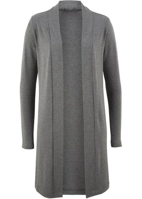 571fed88 Lang trikot-jakke grå melert - Dame - bonprix.no