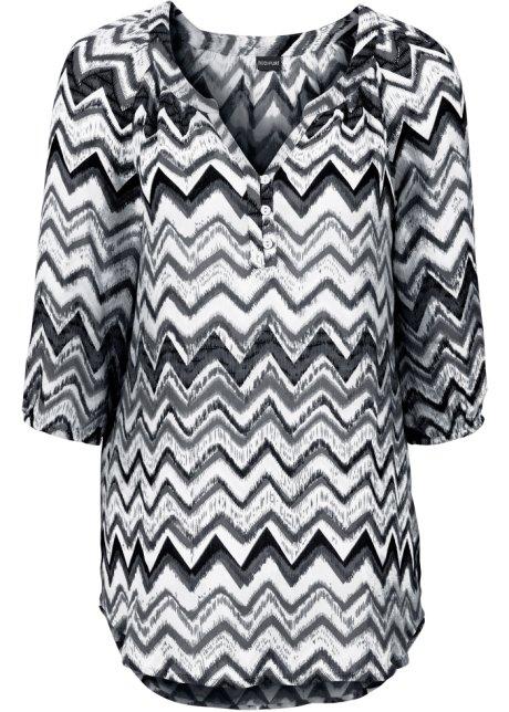 608ec04c3d67 Lang tunika hvit sort mønstret - Dame - BODYFLIRT - bonprix.no