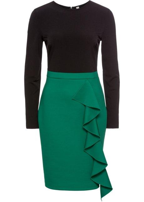 e6a7ac5d Kjole sort/mørk grønn - Dame - BODYFLIRT boutique - bonprix.no