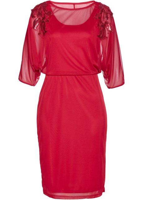 9c615146 Mesh-kjole med paljetter rød - bpc selection premium kjøp online ...