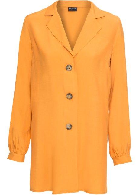 best service 4956a 0726c Lang bluse med knapper