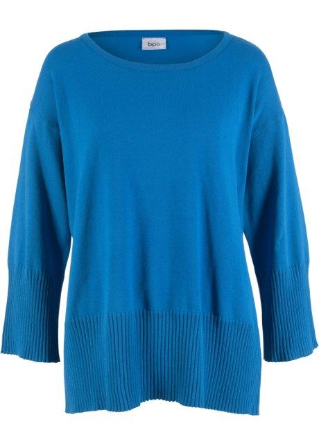74d3742f Strikket genser med rund hals azurblå - Dame - bonprix.no
