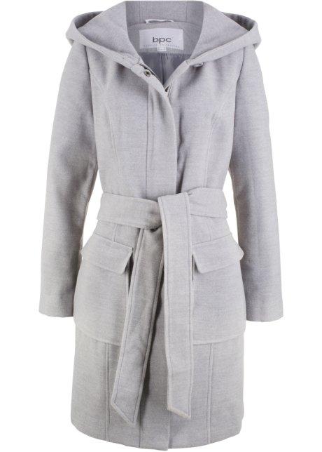 b2799ca8 Lang, varm jakke av imitert ull lys grå melert - bpc bonprix ...