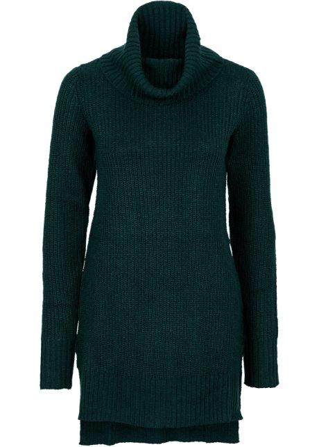 bfd545de Lang strikkegenser mørk grønn - Dame - BODYFLIRT - bonprix.no