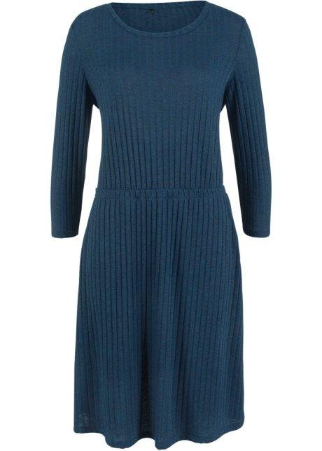 Ribbet kjole med knytebånd
