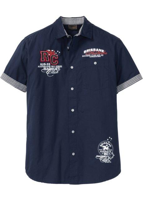 Kortermet skjorte med trykk mørkeblå bpc selection kjøp