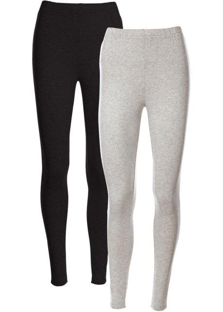 68733728 Leggings lys grå melert + sort - bpc bonprix collection kjøp online ...