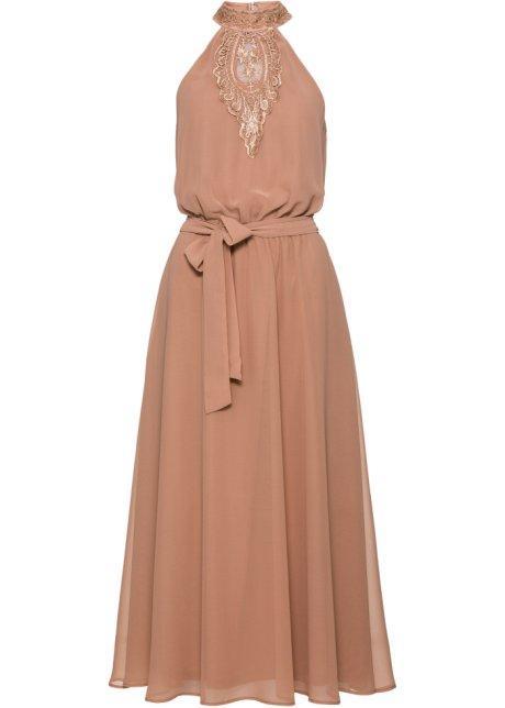 1e964c213279 Kjole med blondebesetning beige - BODYFLIRT boutique kjøp online ...