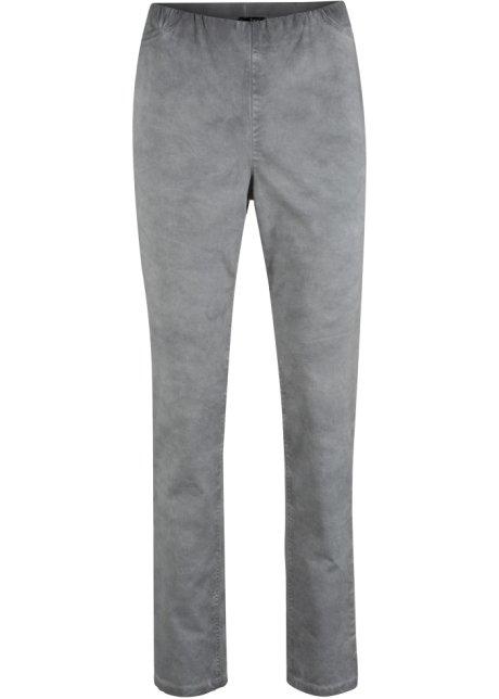 88f4bf1f Pull on-bukse i bomull, used wash nøytral grå - bpc bonprix ...