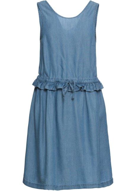 4892d1c9 Kjole med utringning på ryggen blue bleached - Dame - BODYFLIRT ...