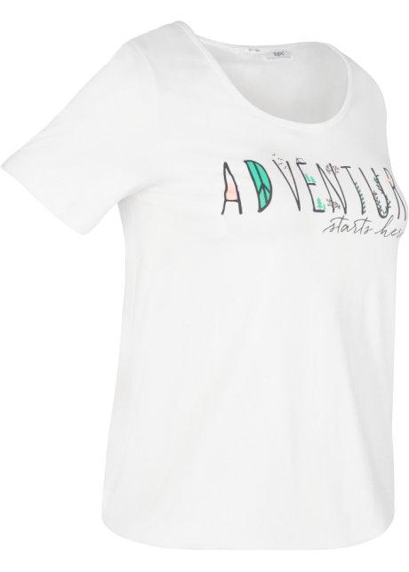 2da1a95e T-shirt med elastikk nederst, kort arm