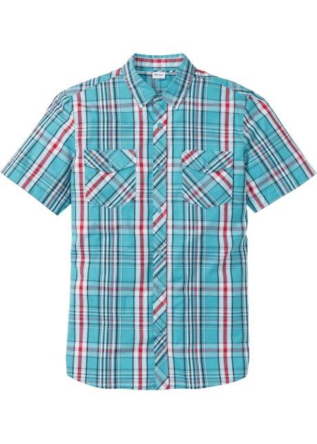 85bfbb4d Skjorte med kort arm, normal passform sjøgrønn rutet - John Baner ...