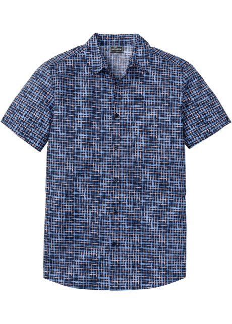 Kortermet skjorte, Slim Fit blå rutet RAINBOW kjøp online