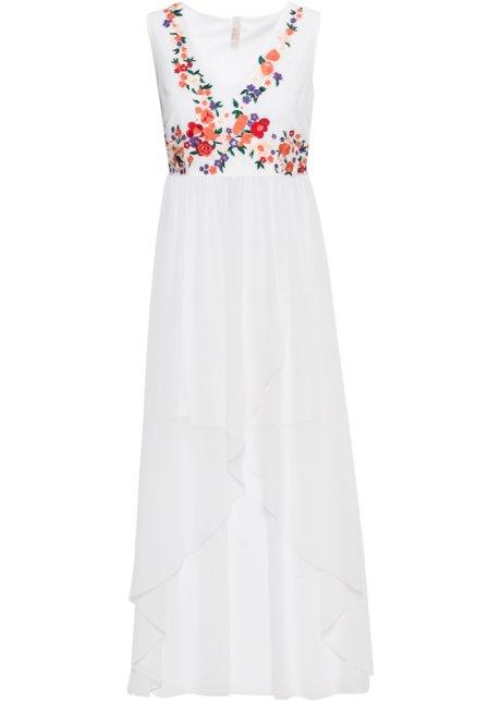 blomstret broderet kjole