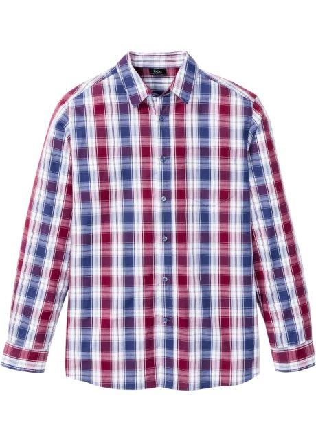 Kortermet skjorte, normal passform hvitindigobodreaux