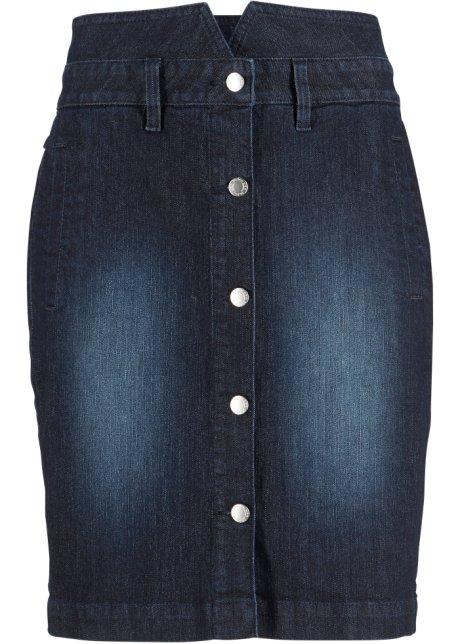 Jeansskjørt med knapper