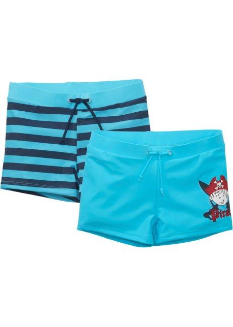 mørke blå stripete badebukse