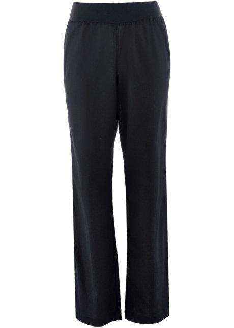Bukse med stretch, 78 lengde, Loose Fit sort bpc bonprix