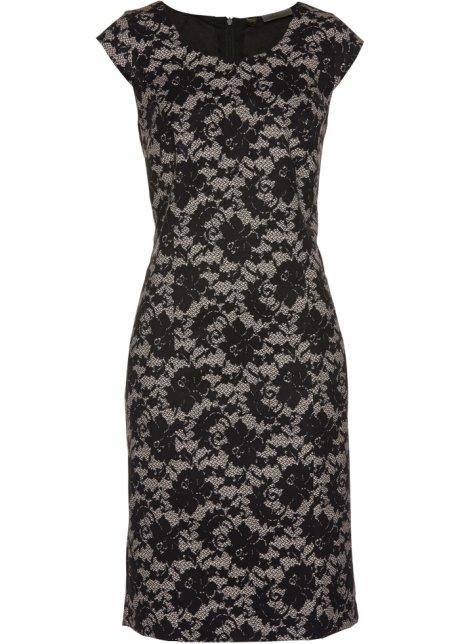 Etui-kjole med blonde-trykk