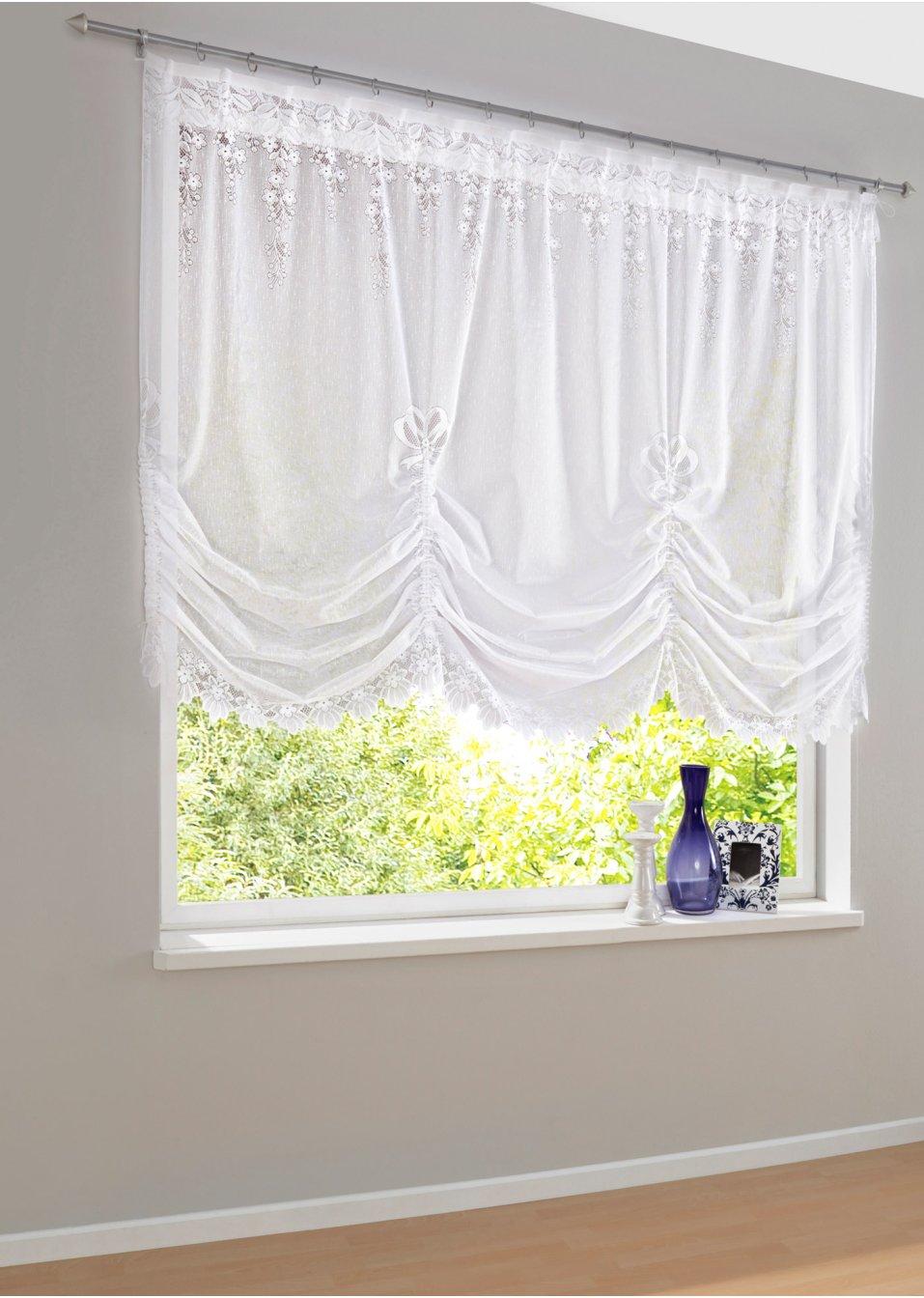 gardinkappe mosel hvit bpc living. Black Bedroom Furniture Sets. Home Design Ideas